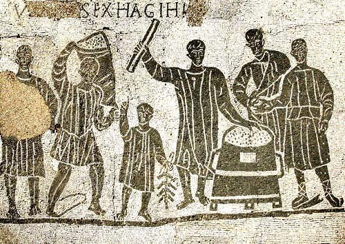 Grain measurers depicted in their guild seat (B. Storage - L. Maish)